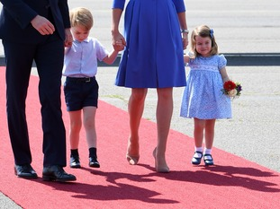 Prince George and Princess Charlotte on a Royal Family visit in Germany, will their new sibling join them on the next royal visit?