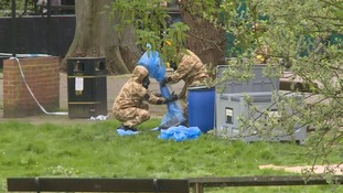 Military at Salisbury for the start of decontamination