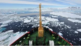 HMS Protector freed the Norwegian cruise liner MV Fram