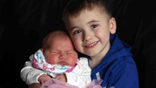 Kian Musgrove thanks supporters as he lives to meet baby sister