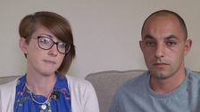 Charlotte and Robert Smith lost their second child to stillbirth after mistakes in care are Colchester Hospital.