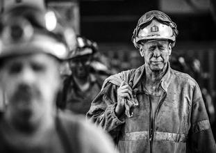 Miners come off the last shift at Kellingley Colliery on the final day of production in 2015.