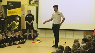 Cricketing great Alastair Cook hopes to inspire schoolchildren to play