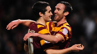 Bradford stunned Aston Villa with a 3-1 win in the first leg of the semi-final