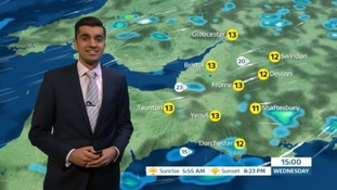 A day of April showers and the odd bright break
