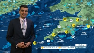 Scattered showers and sunny spells