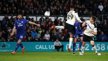 Cardiff City defeated after losing 3-1 to Derby County