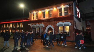 The incident happened outside the Albert pub