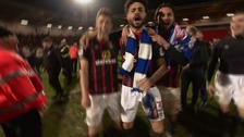 Blackburn Rovers celebrate as club returns to the Championship
