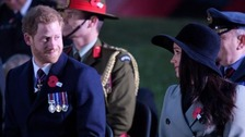 Harry and Meghan honour war dead at Anzac Day service