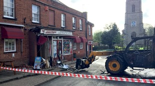 The cash machine was stolen in a ram raid at the convenience store.