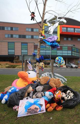 Alfie was being treated at Liverpool's Alder Hey Children's Hospital