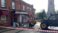 Cash machine stolen in ram raid at convenience store in Norfolk