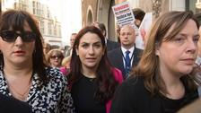 Labour MPs march with colleague to anti-Semitism hearing