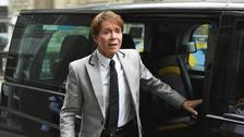 Sir Cliff Richard arrives at the Rolls Building in London as he continues his legal action against the BBC.
