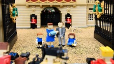 Royal baby re-created in lego bricks