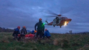 A helicopter was flown in due to the severity of the biker's injuries