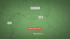 The girls were approached at Mary Ruck Way in Black Notley