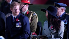 Meghan Markle and Prince Harry at the Anzac Day service