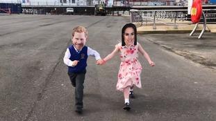 A mini Harry and a mini Meghan