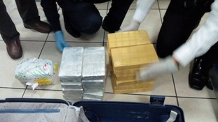 The Liverpudlian was caught with 31 brick-type packages containing cocaine.