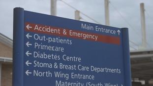 Royal Glamorgan Hospital Sign