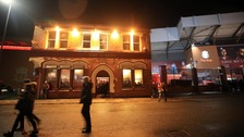 The Liverpool fan was attacked outside The Albert beside Anfield stadium