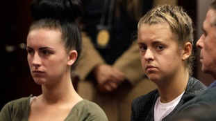 Michaella McCollum (left) and Melissa Reid in court in 2013.