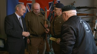 The cafe provides a social space for former military personnel to share experiences.