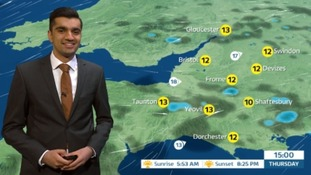 Nice sunny spells but scattered showers