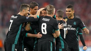 Champions League: Real Madrid score two away goals to seal win at Bayern Munich