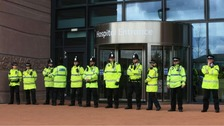 police outside Alder Hey Hospital