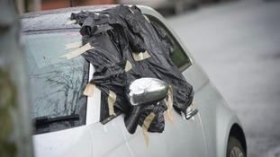 smashes car