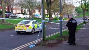 The scene of the crash on Kingstanding Road in Birmingham
