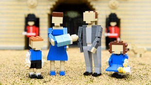 The royals made of Lego.