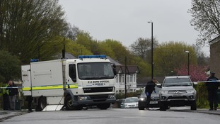 A bomb disposal team was drafted in to the property in Coventry on Tuesday
