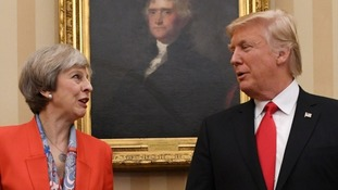 President Trump has in the past said he has a good relationship with Prime Minister Theresa May.