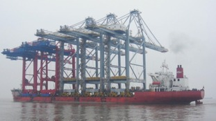 Cranes, port, Essex
