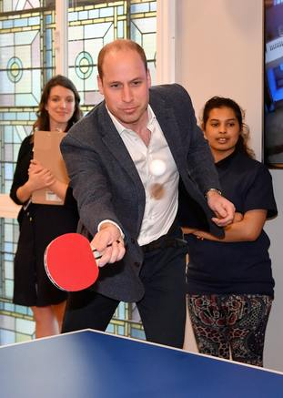 William plays table tennis at the Greenhouse Centre