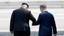 In pictures: Chatty leaders make history at South Korea summit