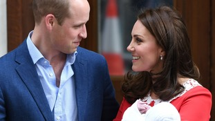 William and Kate named their other two children within two days of the birth.