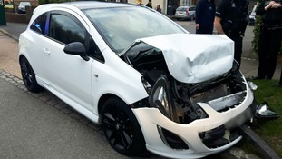 Willard crashed while driving a white Vauxhall Corsa