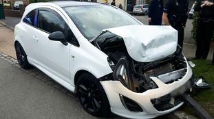 Drink driver captures high-speed crash on dash-cam
