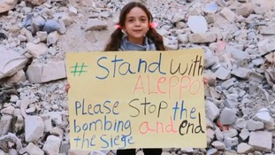 Eight-year-old survivor who tweeted Aleppo bombing recognised for raising awareness