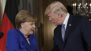 Trump hails 'great relationship' with Merkel as German leader visits White House