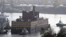 The floating nuclear power plant.
