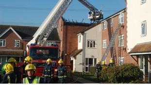 Fire brigade aerial platform