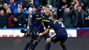 Premier League: Everton heap pressure on Huddersfield after 2-0 win