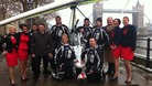 Posing at the launch of the British Antarctic Microlight Expedition