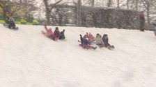 Children sledging
